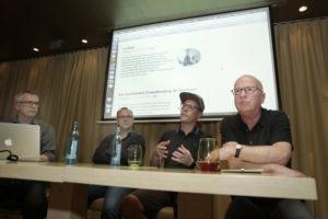 """Foto des Presseclubs Dresden zu einem Talk zum Thema """"Blogs in Dresden/Sachsen"""""""