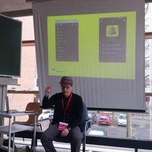 Auf dem Educamp in Leipzig sprach ich über Snapchats Einsatzmöglichkeiten im Bildungskontext. Bild: Annegret Wehmeyer